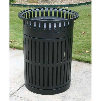 Trash Disposal - 32 Gallon Metro Style Trash Receptacle With Hinged Side Door