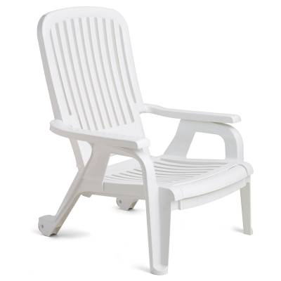 Grosfillex Patio Furniture - Resin Chairs - Bahia Stacking Deck Chair