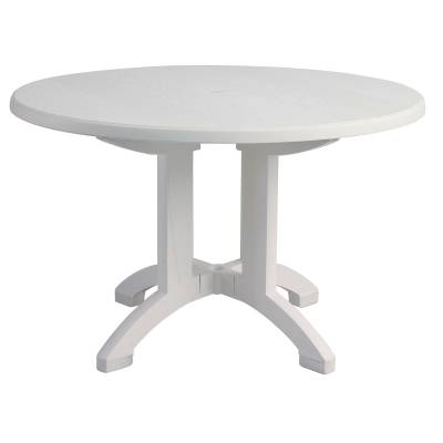 "Grosfillex Patio Furniture - Resin Tables - 48"" Round Aquaba Resin Table - Four Styles Available"
