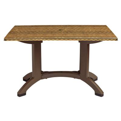 "Grosfillex Patio Furniture - Resin Tables - 48"" x 32"" Rectangular Sumatra Table"