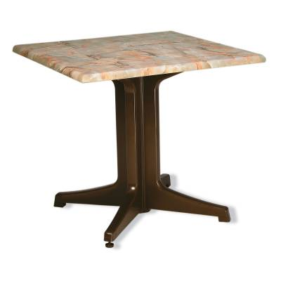 "Grosfillex Patio Furniture - Resin Tables - 32"" Square Pedestal Table"