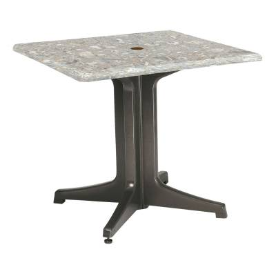 "Grosfillex Patio Furniture - Resin Tables - 36"" Square Pedestal Table"
