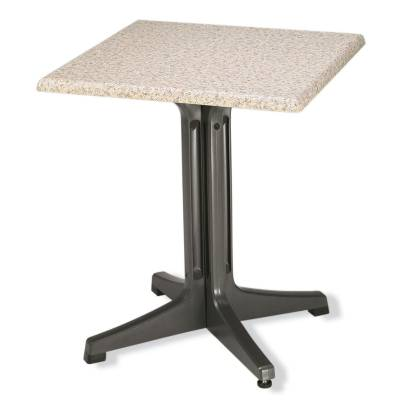 "Grosfillex Patio Furniture - Resin Tables - 24"" Square Pedestal Table"