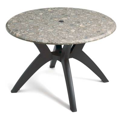 "Grosfillex Patio Furniture - Resin Tables - 42"" Round Melamine Table"