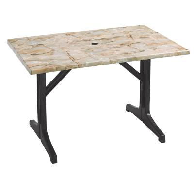 "Grosfillex Patio Furniture - Resin Tables - 48"" x 32"" Rectangular Melamine Table"
