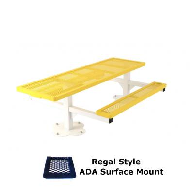 6' Regal Pedestal Picnic Table, ADA - Inground and Surface Mount - Image 2