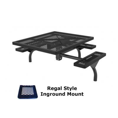 "46"" x 57"" ADA Regal Web Picnic Table - Surface and Inground Mount - Image 2"