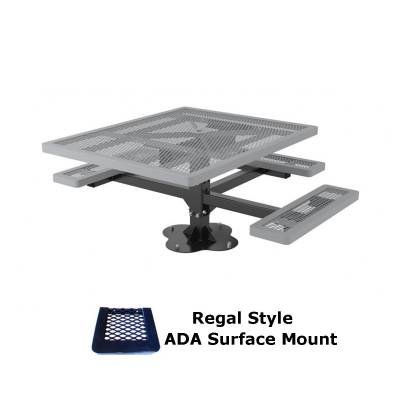 """46"""" x 57"""" Regal Picnic Table, ADA - Inground and Surface Mount - Image 2"""