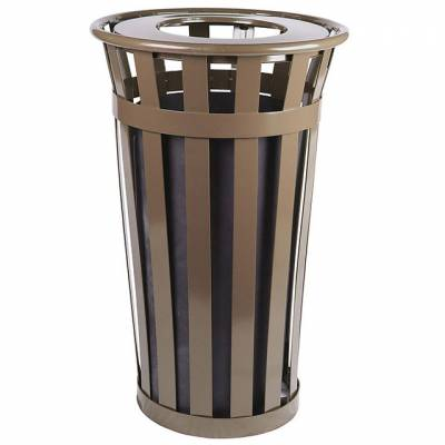 Trash Disposal - 24 Gallon Oakley Slatted Receptacle