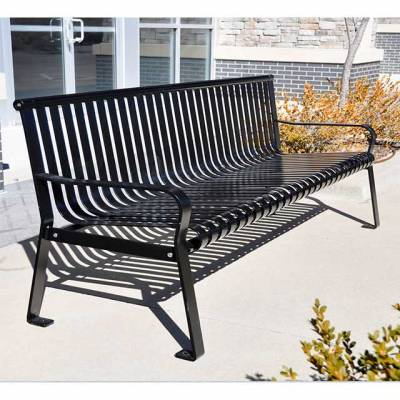 Park Benches - Coated Metal - 6' Aspen Bench - Portable/Surface Mount