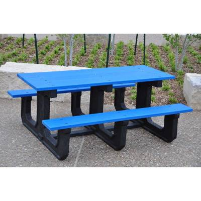 6' and 8' Recycled Plastic Park Place Picnic Table, Portable - Quick Ship - Image 1
