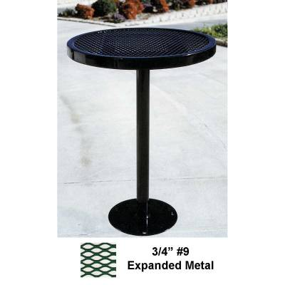 "Picnic Tables - Patio Tables and Seating - 30"" Round Specialty Table, Bar Height - Surface or Inground Mount"
