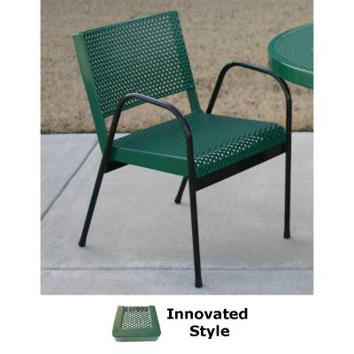 Picnic Tables - Patio Tables and Seating - Innovated Stack Chair with Arms