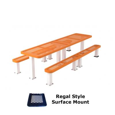 10' Regal Picnic Table with (2) Unattached Seats - Surface and Inground Mount - Image 2