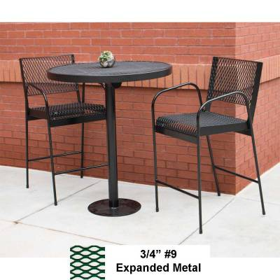Picnic Tables - Barstool with Back and Arms