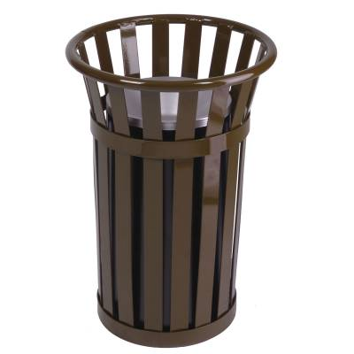 Trash Disposal - Outdoor Ash Receptacles - Oakley Slatted Ash Urn