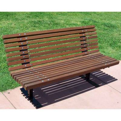 4', 5, 6, and 8' Palisade Contour Bench - Surface Mounted. - Image 2