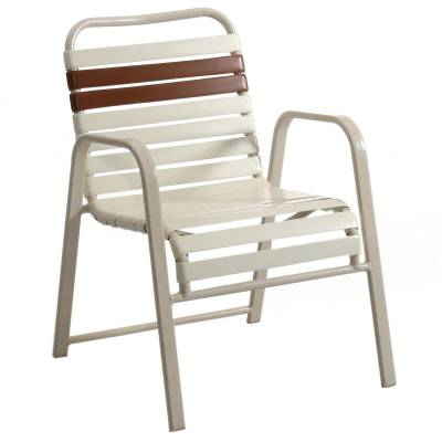 Poolside Furniture - Vinyl Strap Furniture - Welded Contract Siesta Stacking Strap Chair