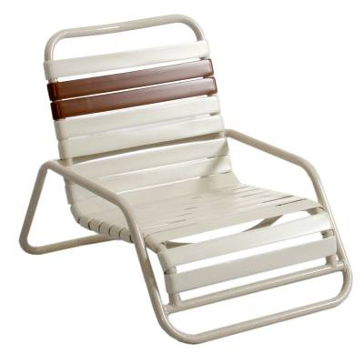 Poolside Furniture - Vinyl Strap Furniture - Welded Contract Lido Stacking Sand Chair