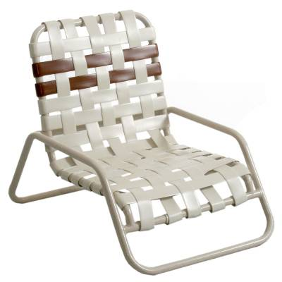 Poolside Furniture - Vinyl Strap Furniture - Welded Contract Lido Stacking Sand Cross Strap Chair