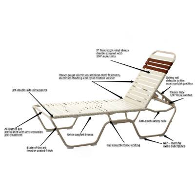 Mid-high Welded Contract Lido Stack Strap Chaise - Image 2