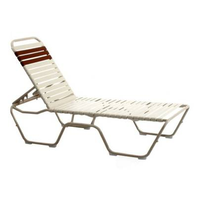 Poolside Furniture - Welded Lido Contract Stack Strap Chaise