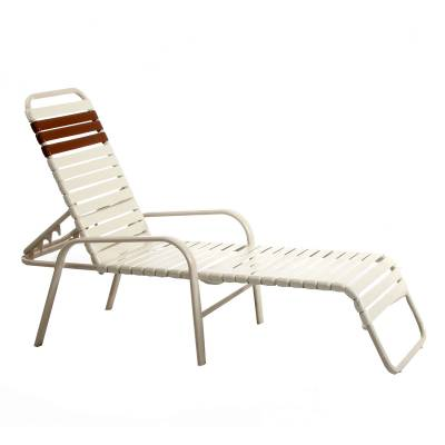 Poolside Furniture - Vinyl Strap Furniture - Welded Contract Bonaire Stack Strap Chaise