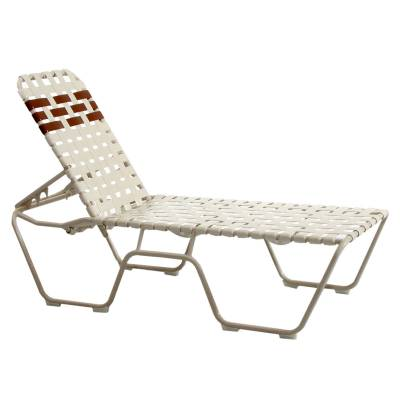 Poolside Furniture - Vinyl Strap Furniture - High Welded Contract Stack Lido Cross Strap Chaise