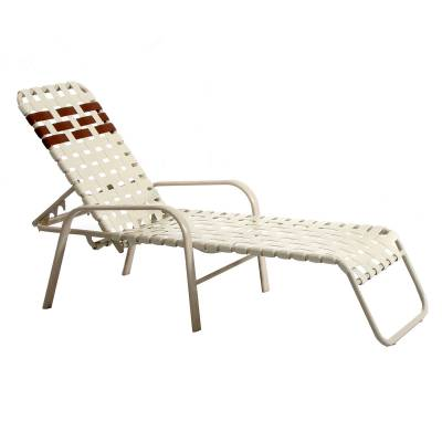 Poolside Furniture - Welded Contract Bonaire Stack Cross Strap Chaise