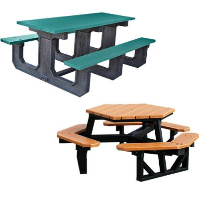 Picnic Tables - Recycled Plastic - Quick Ship