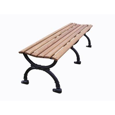 "Park Benches - Commercial Cast Aluminum Park Benches - 4', 5' and 80"" Victorian Backless Bench - Portable/Surface Mount"