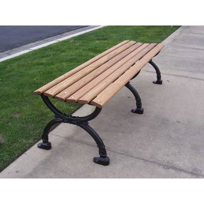 "4', 5' and 80"" Victorian Backless Bench - Portable/Surface Mount - Image 2"