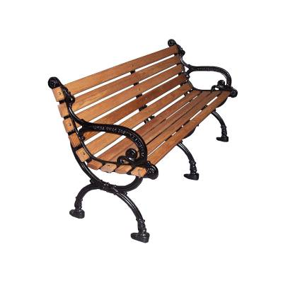 "Park Benches - Cast Aluminum - 4', 5' and 80"" Victorian Bench - Portable/Surface Mount"