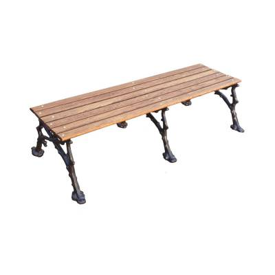 "Park Benches - Cast Aluminum - 4', 5' and 80"" Woodland Backless Bench - Portable/Surface Mount."