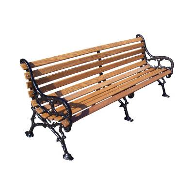"Park Benches - Cast Aluminum - 4', 5' and 80"" Woodland Bench - Portable/Surface Mount."