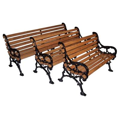 "4', 5' and 80"" Woodland Bench - Portable/Surface Mount. - Image 3"