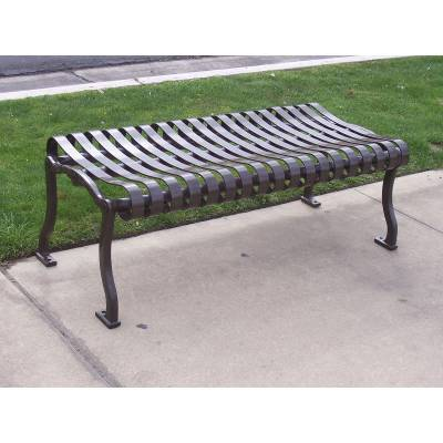 2' - 8' Iron Valley Backless Bench - Portable/Surface Mount - Image 2