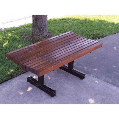 4', 5', 6' and 8' Boulevard Backless Bench - Portable/Inground/Surface Mount. - Image 3