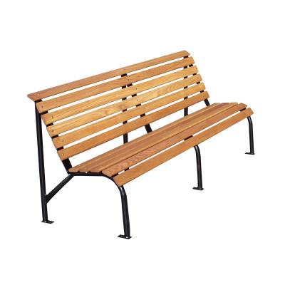 "Park Benches - Natural Wood - 4', 5' and 80"" Capitol Bench - Portable/Surface Mount"