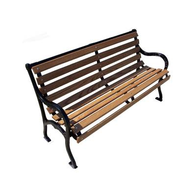 Park Benches - Natural Wood - 4', 5, 6' and 8' Iron Valley Slatted Bench - Portable/Surface Mount.