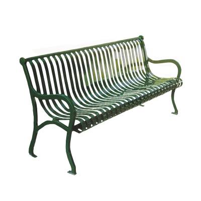 Park Benches - Coated Metal - 4' - 8' Iron Valley Bench- Portable/Surface Mount