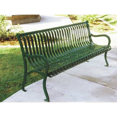 4' - 8' Iron Valley Bench- Portable/Surface Mount - Image 2