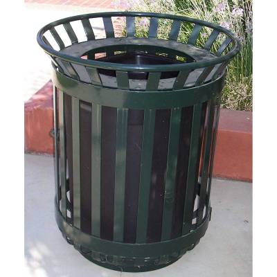 45 Gallon Iron Valley Trash Receptacle - Image 1
