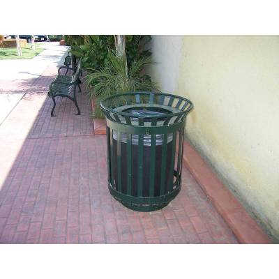45 Gallon Iron Valley Trash Receptacle - Image 2
