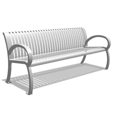 Park Benches - Commercial Cast Aluminum Park Benches - 4' Wilmington Cast Aluminum Bench - Portable/Surface Mount