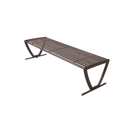 Park Benches - Coated Metal - 6' Augusta Backless Bench - Portable/Surface Mount