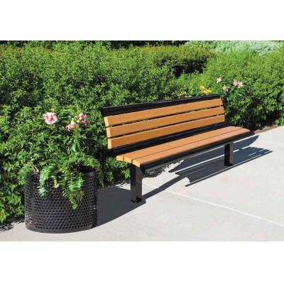 6' Richmond Recycled Plastic Bench - Surface and Inground Mount - Image 2