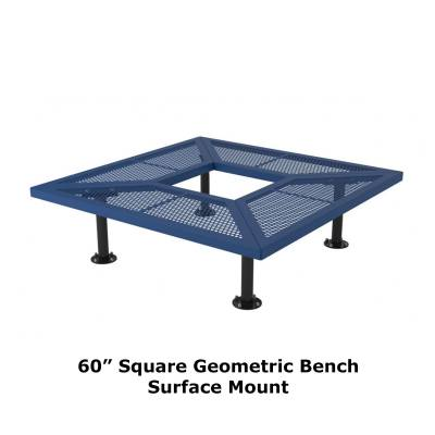 "72"" & 96"" Square Geometric Benches, Surface and Inground Mount - Image 2"