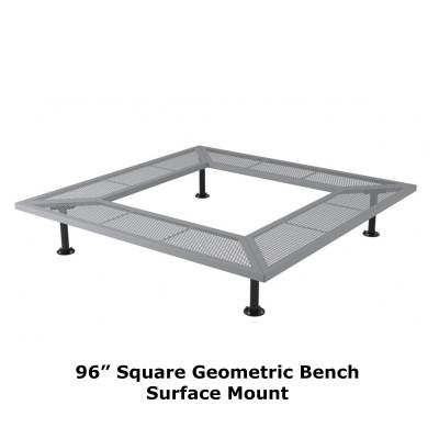 "72"" & 96"" Square Geometric Benches, Surface and Inground Mount - Image 8"