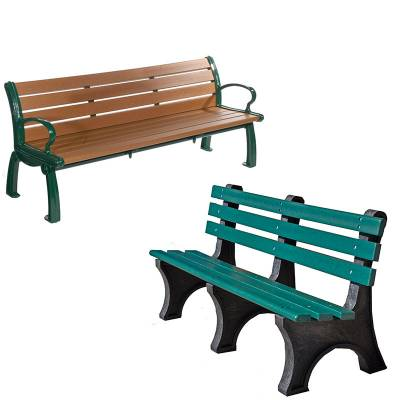 Park Benches - Recycled Plastic - Quick Ship